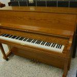 Yamaha Upright Piano w/ Player System – Satin Oak