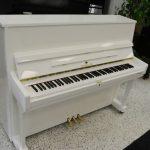 Schiller Performance Frankfurt Upright Piano 46″ White Polish
