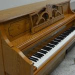 Conover Cable Upright Piano – Oak