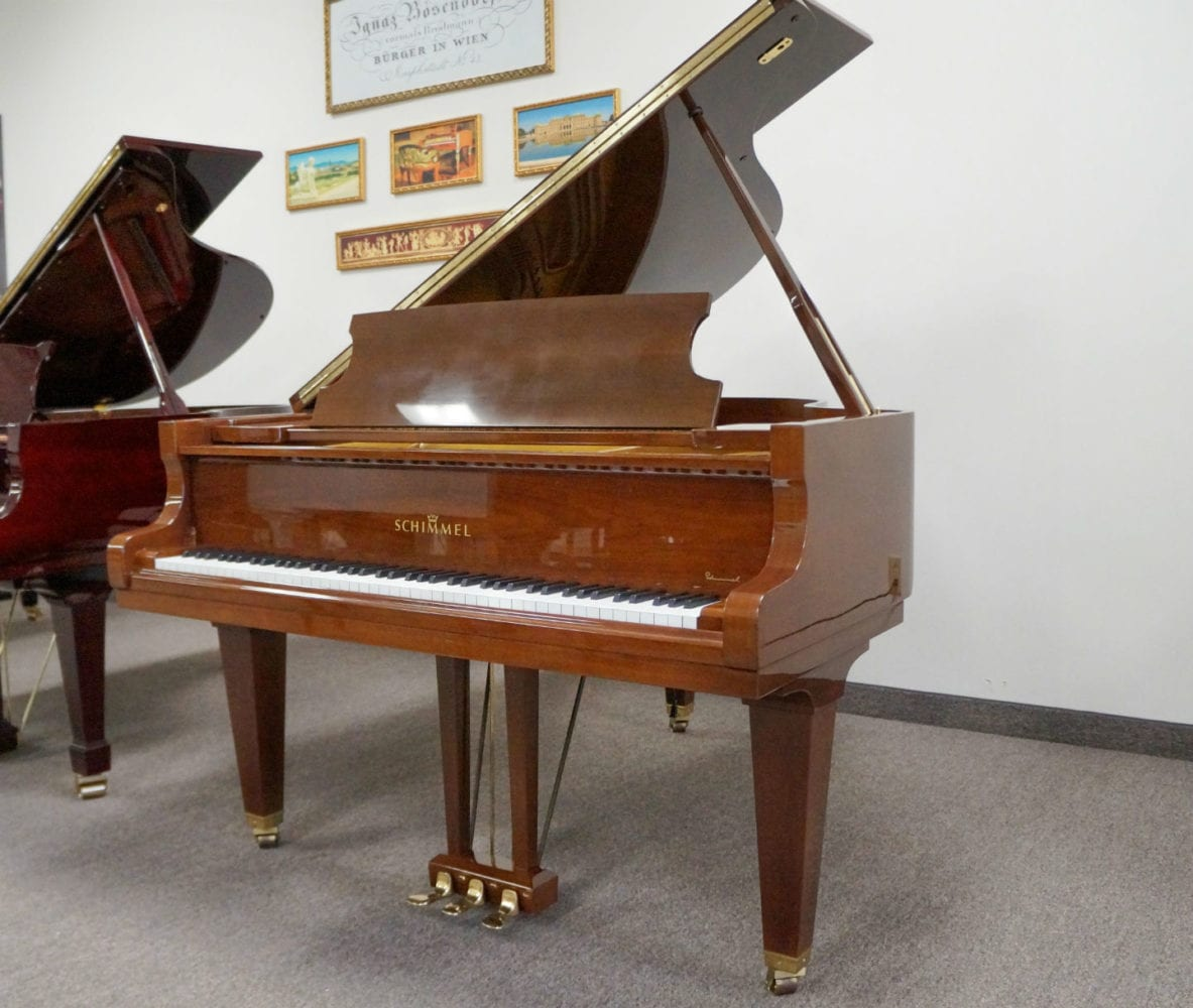 Schimmel 180 Mahogany Polish Grand Piano Piano Demo