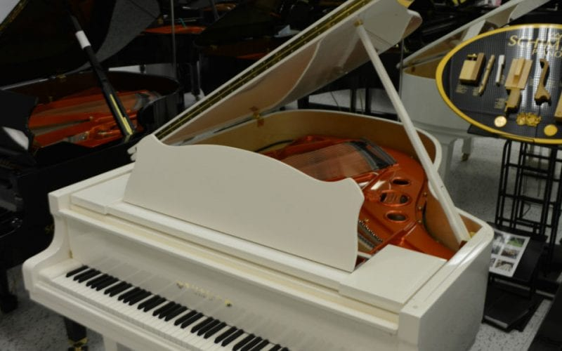 Schimmel 180 Grand Piano White Polish