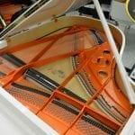 Schimmel Wilhelm 180 Grand Piano White Polish open