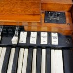 Hammond A100 organ keys
