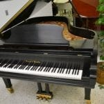 Mason & Hamlin Model BB Grand Piano Black Satin front