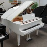 5'3″ White Polish Schiller 160 Baby Grand Piano
