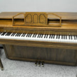 Cable Upright Piano-Pecan Semi Gloss