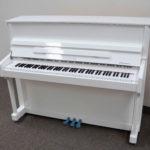 Schiller Berlin Upright Piano White Polish