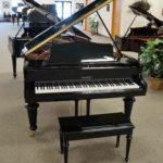 George Steck Grand Piano Black Polish W/Louis Legs